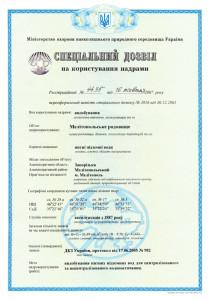 Лицензия и специальное разрешение на пользование недрами